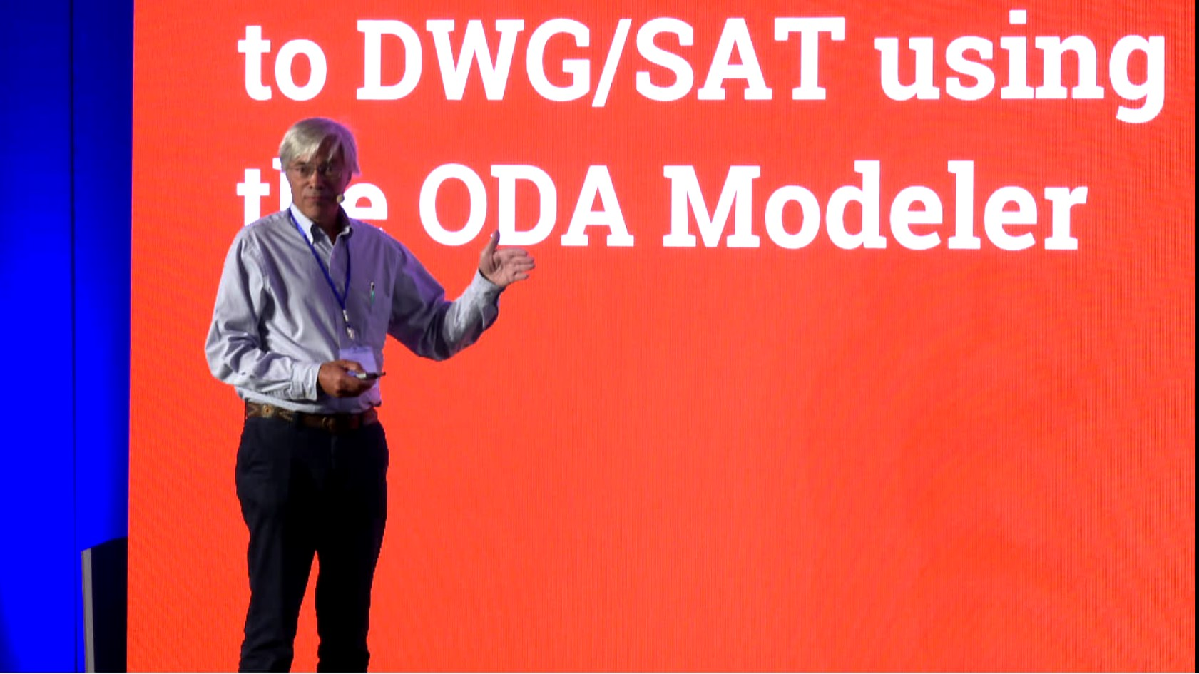 John Matthews of InGraData demonstrates ODA's new Solid Modeler